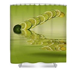 Shower Curtain featuring the photograph Slices Lemon Lime Citrus Fruit by David French