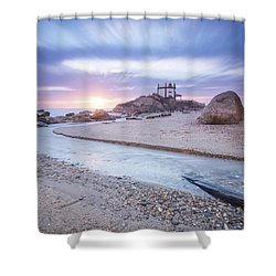 Shower Curtain featuring the photograph Sliding Into Time by Bruno Rosa