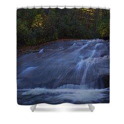 Shower Curtain featuring the photograph Sliding Rock Falls by Ellen Heaverlo