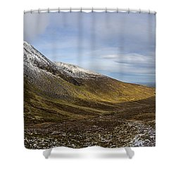 Slieve Commedagh And Slieve Donard Panorama From The Assent  Shower Curtain
