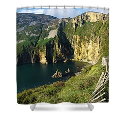 Shower Curtain featuring the photograph Slieve League Cliffs Eastern End by RicardMN Photography