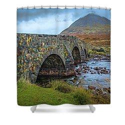 Shower Curtain featuring the photograph Sligachan Bridge View #h4 by Leif Sohlman