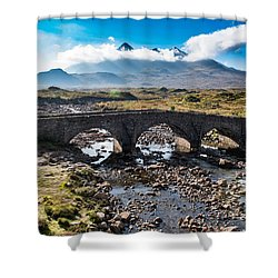 Shower Curtain featuring the photograph Skye Cuillin From Sligachan by Gary Eason