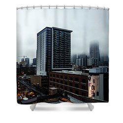 Slightly Shrouded Shower Curtain