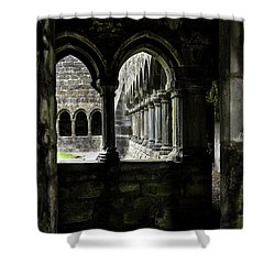 Shower Curtain featuring the photograph Sligo Abbey Interior by RicardMN Photography