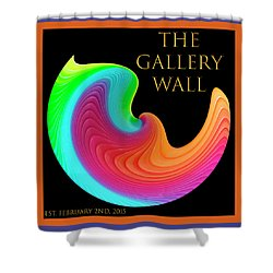 Shower Curtain featuring the photograph Slinky Dove Of Peace-the Gallery Wall Logo by Wendy Wilton