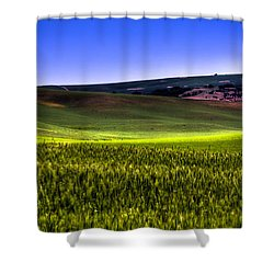 Sliver Of Sunlight On The Palouse Hills Shower Curtain by David Patterson