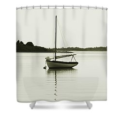 Sloop At Rest  Shower Curtain
