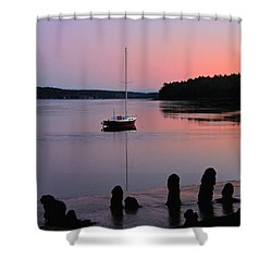 Sloop Sunset Shower Curtain