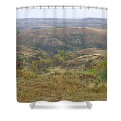 Slope County In The Rain Shower Curtain