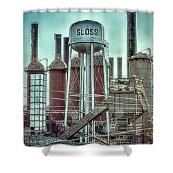 Sloss Furnaces Tower 3 Shower Curtain