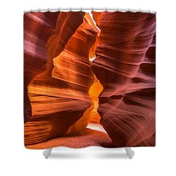 Slot Canyon Shower Curtain by Jerry Cahill
