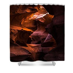 Slot Canyon Red Shower Curtain
