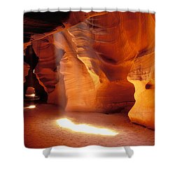 Slot Canyon Warm Light Shower Curtain by Garry Gay