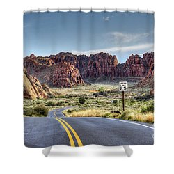 Slow Down In Snow Canyon Shower Curtain