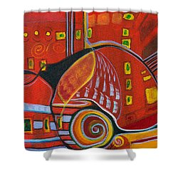 Slow Down Shower Curtain by Leela Payne