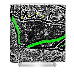 Shower Curtain featuring the digital art Slow Down by Yshua The Painter