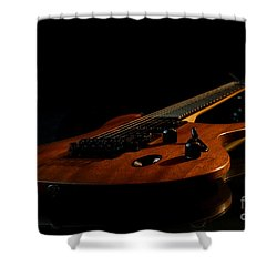 Slow-hand-guitar Shower Curtain