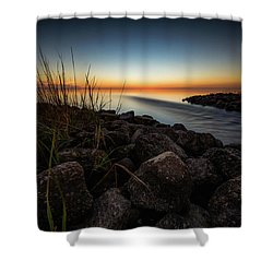 Shower Curtain featuring the photograph Slow Motion Runoff by Allen Biedrzycki