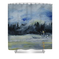 Slow Sail Home Shower Curtain