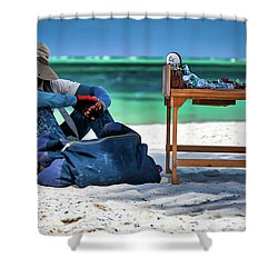 Slow Sales Day Shower Curtain