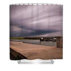 Slow Summer Storm Shower Curtain