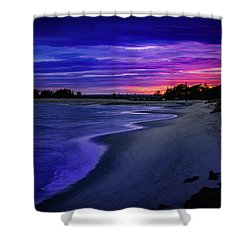 Slow Waves Erupting Clouds Shower Curtain