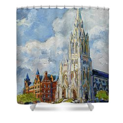 Slu - Grand And Lindell, Saint Louis Shower Curtain