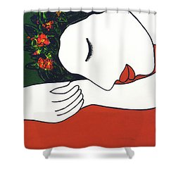 Slumber #204 Shower Curtain by Donald k Hall