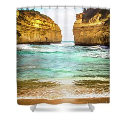 Shower Curtain featuring the photograph Small Bay by Perry Webster