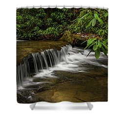 Small Cascade On Pounder Branch. Shower Curtain