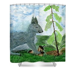 Small Changes In Life Shower Curtain