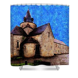 Small Church 1 Shower Curtain by Jean Bernard Roussilhe