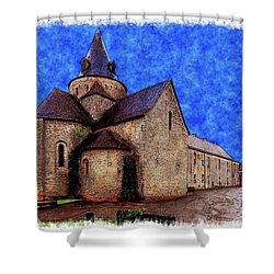 Small Church 2 Shower Curtain by Jean Bernard Roussilhe