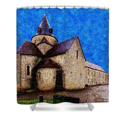 Small Church 4 Shower Curtain by Jean Bernard Roussilhe