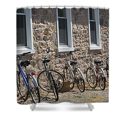 Small Country School Shower Curtain by Jeanette Oberholtzer