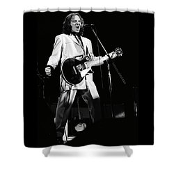Small Faces Shower Curtain by Sue Arber