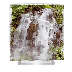 Small Falls On Mt. Ranier Shower Curtain by Peter J Sucy