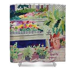 Small Garden Scene Shower Curtain