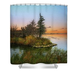 Small Island Shower Curtain