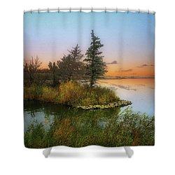 Small Island Shower Curtain