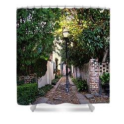Small Lane In Charleston Shower Curtain by Susanne Van Hulst