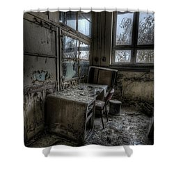 Shower Curtain featuring the digital art Small Office by Nathan Wright