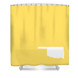 Small Oklahoma In White Shower Curtain