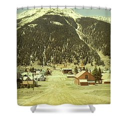 Shower Curtain featuring the photograph Small Rocky Mountain Town by Jill Battaglia