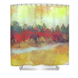 Shower Curtain featuring the digital art Small Spring by Jessica Wright