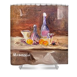 Small Still Life Shower Curtain
