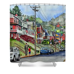 Small Town, America Shower Curtain