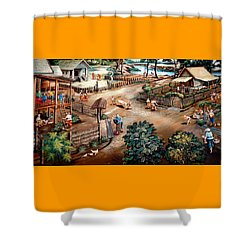 Small Town Community Shower Curtain