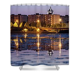 Small Town Skyline Shower Curtain